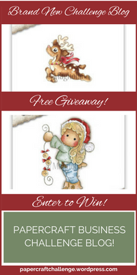 Papercraft Business Challenge Blog Giveaway - Sidebar