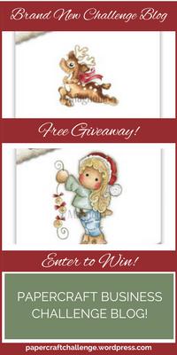 Papercraft Business Challenge Blog Giveaway - Sidebar